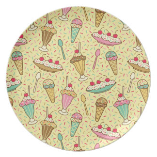 Vanilla Ice Cream Dinner Plate