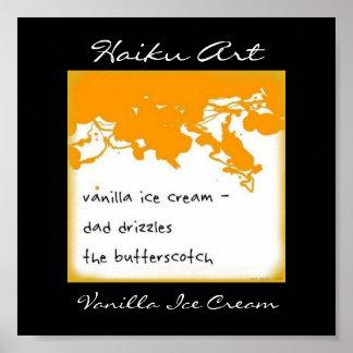 Vanilla Ice Cream Haiku Art Print
