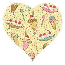 Vanilla Ice Cream Heart Sticker