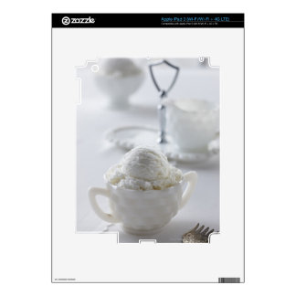 Vanilla ice cream in a white environment skins for iPad 3