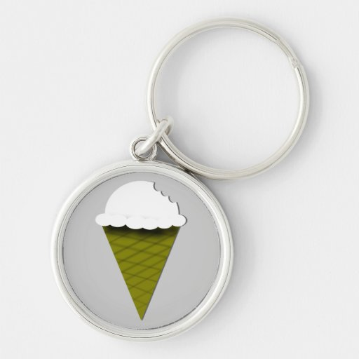 Vanilla Ice Cream Keychain