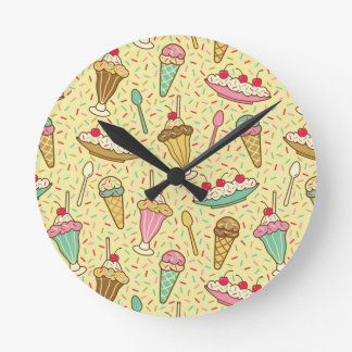 Vanilla Ice Cream Round Clock