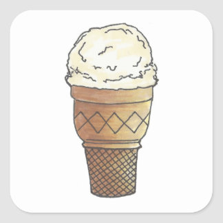 Vanilla Ice Cream Stickers