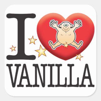 Vanilla Love Man Square Sticker