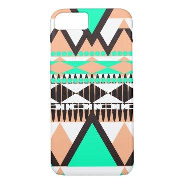 Aztec Themed Vanilla Mint Tribal iPhone 8/7 Case