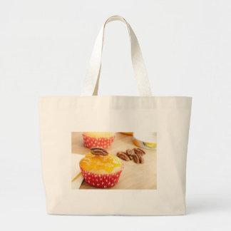 Vanilla Pecan Cupcake Jumbo Tote Bag