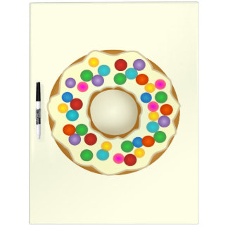 vanilla rainbow donut dry erase board
