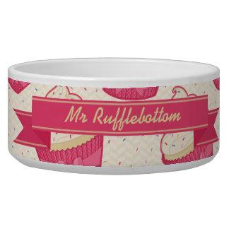 Vanilla Sprinkle Cupcake Pattern and Ribbon Bowl