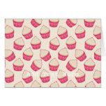 Vanilla Sprinkle Cupcake Pattern Greeting Cards