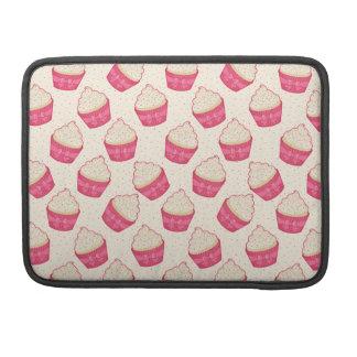Vanilla Sprinkle Cupcake Pattern MacBook Pro Sleeves