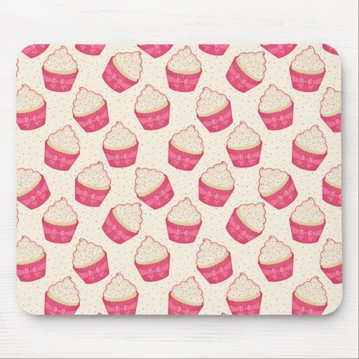 Vanilla Sprinkle Cupcake Pattern Mousepads