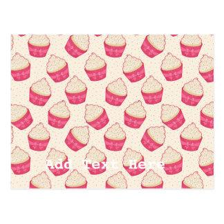 Vanilla Sprinkle Cupcake Pattern Postcard