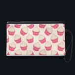 "Vanilla Sprinkle Cupcake Pattern Wristlet Purse<br><div class=""desc"">This cute and girly design features many yummy vanilla cupcakes that appear as if they are falling in all directions. The delicious sweets have vanilla frosting with a colorful mix of sprinkles on top. Between the adorable pattern of cupcakes are more sprinkles. To complete this pretty pattern there is a...</div>"