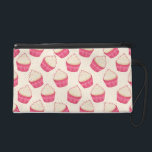 """Vanilla Sprinkle Cupcake Pattern Wristlet Purse<br><div class=""""desc"""">This cute and girly design features many yummy vanilla cupcakes that appear as if they are falling in all directions. The delicious sweets have vanilla frosting with a colorful mix of sprinkles on top. Between the adorable pattern of cupcakes are more sprinkles. To complete this pretty pattern there is a...</div>"""