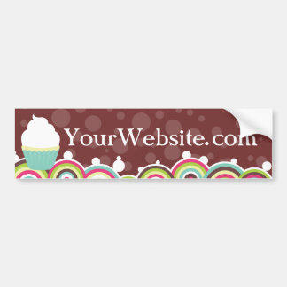 Vanilla Swirl Bumper Sticker