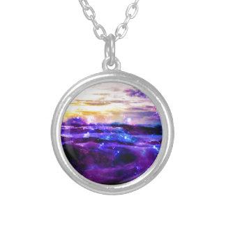 Vanilla Twilight Round Pendant Necklace