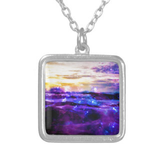 Vanilla Twilight Square Pendant Necklace