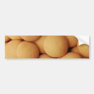 Vanilla Wafer Cookie Pattern - Sweet Dessert Prin Bumper Sticker