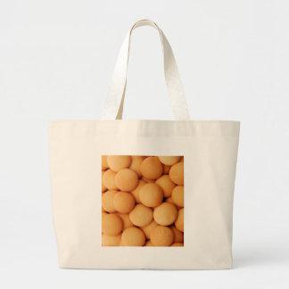 Vanilla Wafer Cookie Pattern - Sweet Dessert Prin Large Tote Bag