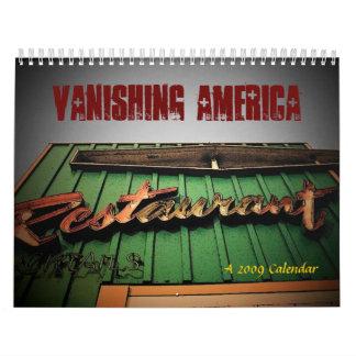 Vanishing America Calendar - Customized