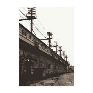 Vanishing American Industry Urban Industrial Print Stretched Canvas Print