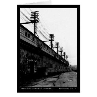 Vanishing American Industry Urban Industrial Print Card
