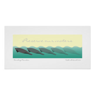 Vanishing Manatees - Preserve our waters 36 x 18 Posters