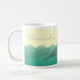 Vanishing Manatees right with text coffee mug