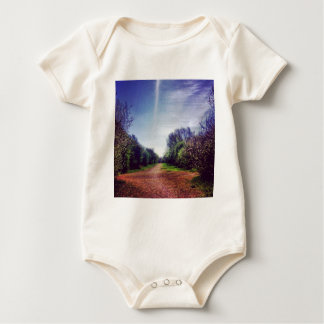 Vanishing point baby bodysuit