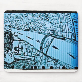 vanishing point drawing 2 mouse pad