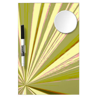 Vanishing Point Olive Dry Erase Board by Janz