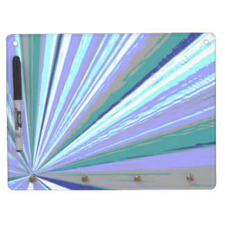 Vanishing Point Teal Dry Erase Board by Janz