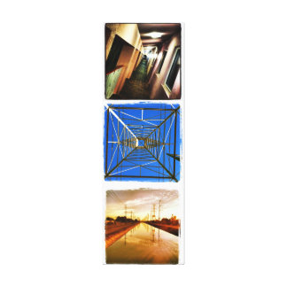 Vanishing Point Trilogy Stretched Canvas Prints