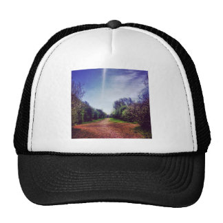 Vanishing point trucker hat