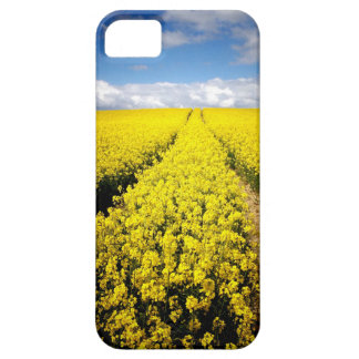 Vanishing point - yellow flowers blue sky iPhone SE/5/5s case