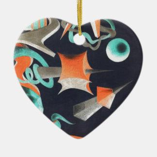 Vanishing Shapes I Ceramic Ornament