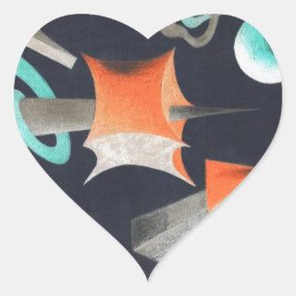 Vanishing Shapes I Heart Sticker