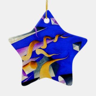 Vanishing Shapes II Ceramic Ornament