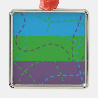 Vanishing Trails B/P/G Metal Ornament