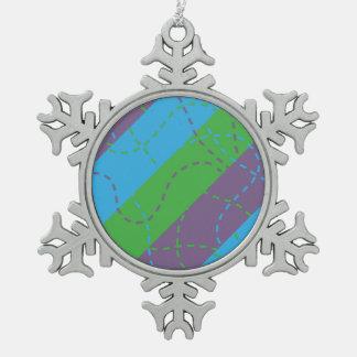 Vanishing Trails B/P/G Snowflake Pewter Christmas Ornament