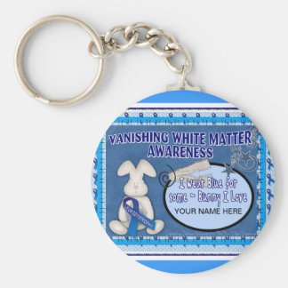 VANISHING WHITE MATTER _SOME-BUNNY I LOVE BASIC ROUND BUTTON KEYCHAIN