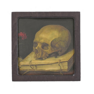 Vanitas, c.1644 (oil on canvas) keepsake box