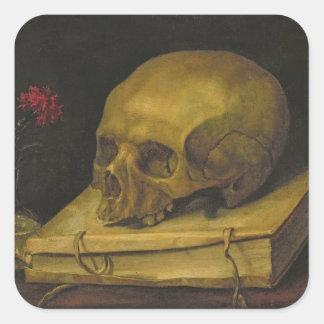 Vanitas, c.1644 (oil on canvas) square sticker