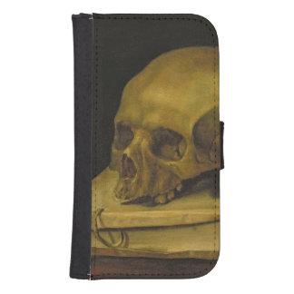Vanitas, c.1644 (oil on canvas) wallet phone case for samsung galaxy s4