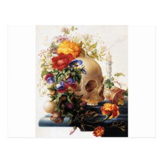 Vanitas - el cráneo postales