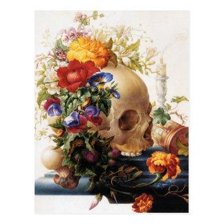 Vanitas - el cráneo tarjetas postales