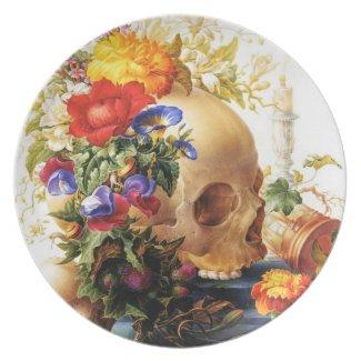 Vanitas Floral Bouquet Plate