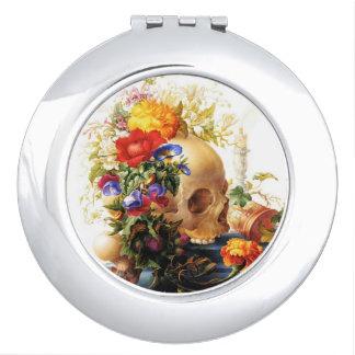 Vanitas Skull Bouquet 2 compact mirror