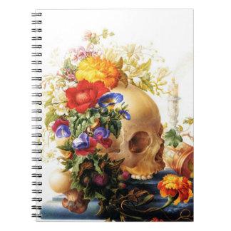 Vanitas Skull Bouquet 2 Notebook