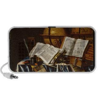 """Vanitas"" Still Life - Adam Bernaert (1665) Portable Speaker"